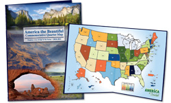 National Park Quarters Display Map 2010-2021
