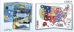 Statehood & U.S. Territories Quarter Folders